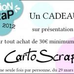 Offre promotionnelle pour Version Scrap Paris 2012