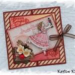 Carte de Noël «Fillette»