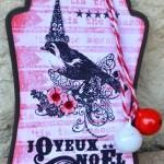 Tag de Noël «Oiseau»