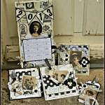 Janvier 2013 : Les cartes de voeux Vintage de Debbyscrap