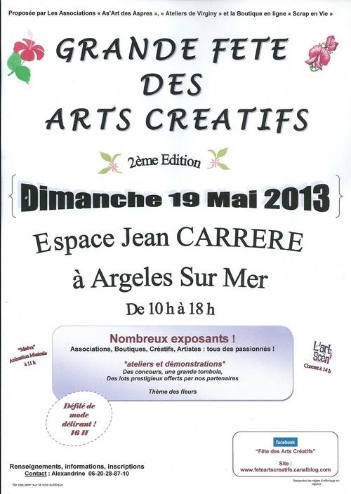 Grande f te des arts cr atifs argel s sur mer 66 19 - Salon des arts creatifs ...