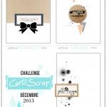Challenge de Décembre 2013 : 3 sketches de carterie