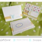 Snoopie : boîte souvenirs de bébé & cartes de naissance