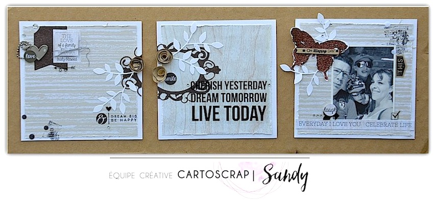 sandydub cadre triptyque cartoscrap. Black Bedroom Furniture Sets. Home Design Ideas