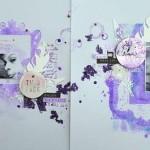 SandyDub : Une double page vêtue de violet