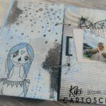 Mini album Mix art journal et photo par Kiki