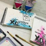 Pas-à-pas de Kiki : Art journal avec Izink Ice