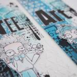 Deux marques pages «Free art»
