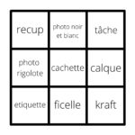 Défis de l'été 2021 – semaine 5 : Lift/sketch & Bingo
